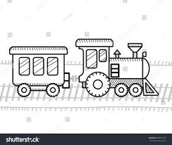 train coloring book kids stock vector 400371967 shutterstock