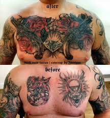 cover up ideas on chest and bird word chest cover up by