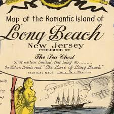Long Beach Map Amazon Com Map Of The Romantic Island Of Long Beach New Jersey