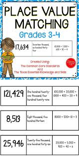 Place Value Worksheets For 4th Grade 175 Best Math Place Value Images On Pinterest Place Values