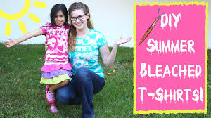 summer crafts bleached t shirts are an easy diy summer craft for