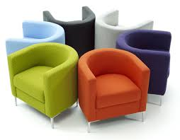 decoration ideas fancy colorful fabric armchair with chrome