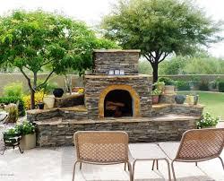 home design outdoor stone fireplace ideas contemporary medium