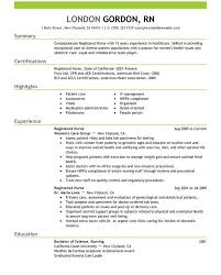 Resume Examples For Registered Nurse by Homely Design Sample Registered Nurse Resume 5 Unforgettable
