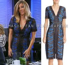 carly corinthos u0027s black and blue lace dress general hospital
