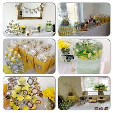yellow gray elephant baby shower baby shower party ideas photo