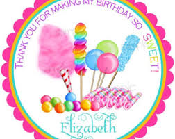 candy gumball birthday party stickers candy circus