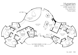 Five Bedroom Houses Hyperion Series Dome Home 2 998 Square Feet Five Bedrooms Three