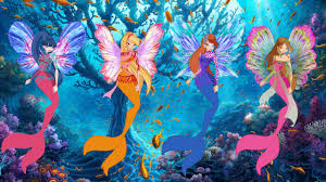 winx club world of winx dreamix mermaid transformation coloring