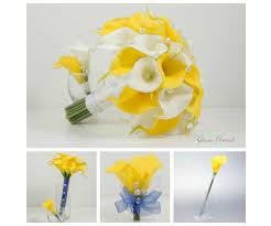 yellow calla calla wedding flower package 11