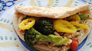 rachael ray roasted broccoli grilled or roasted broccoli and sliced chicken pitas with tahini