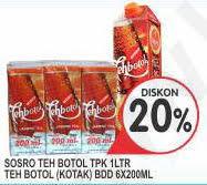Teh Botol Sosro Kotak 1 Dus promo harga teh botol sosro minuman ringan terbaru minggu ini hemat id