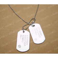 engravable dog tags for men army dog tags necklace for men with engraving jewelry