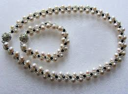 pearls beads necklace images Free pattern for necklace josefine free beading patterns jpg