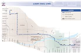 Metro Rail Map by Phoenix Metro Light Rail Map Subway U2022 Mapsof Net