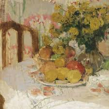 henriette amiard oberteuffer still life with fruit and flowers