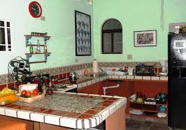 kitchen color idea kitchen mesmerizing small mexican kitchen color idea with tile