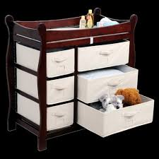Badger Basket Baby Changing Table With Six Baskets Badger Basket Baby Changing Table Cherry Target