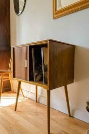 mid century modern storage cabinet vintage mid century modern teak vinyl record storage cabinet sliding