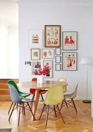 White Dining Table And Coloured Chairs Modern White Dining Room With Multi Coloured Chairs Dining Room