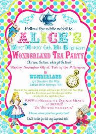alice in wonderland tea party invitations cimvitation