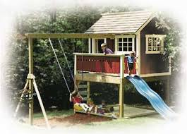 Backyard Play Houses by I Like This One Even Better Because It Has The Slide Too Oh And