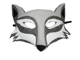 wolf mask children s woodland animal wolf felt mask magical attic