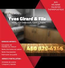 annuaire cuisine ébénisterie yves girard fils conception de meubles sur mesure