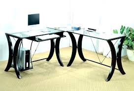Black Tempered Glass Computer Desk Modern Glass Computer Desk Modern Glass Computer Desk