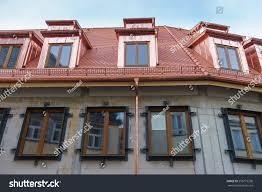 new roof dormer windows copper stock photo 256773298 shutterstock