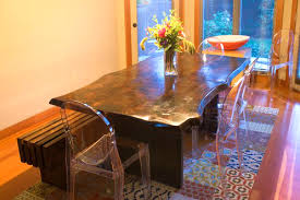 slab leg table with bench lorimer workshop