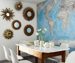 world maps dining room wall art ideas home interiors