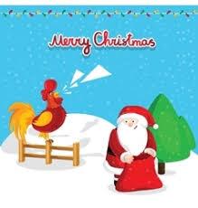santa claus with sack royalty free vector image