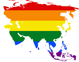 World Map Of Asia by File Lgbt Flag Map Of Asia Png Wikimedia Commons