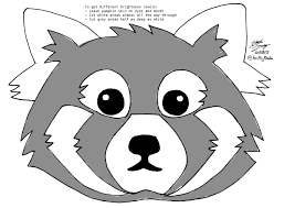 black and white halloween pumpkin clipart red panda art for halloween