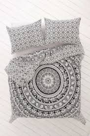 black and white bohemian elephant bedding 3 pc set queen 2 pillow cases