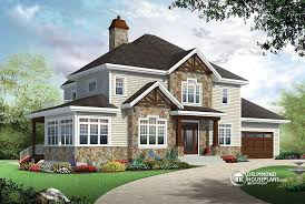 House With 2 Master Bedrooms 4 Bedroom Traditional House Plan With Rustic Touches U0026 Two Master