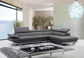 casa quebec modern dark grey eco leather sectional sofa