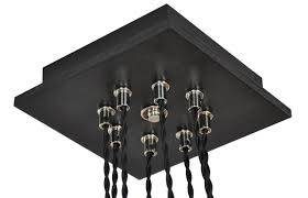 8 cluster pendant light chandelier with edison style bulbs