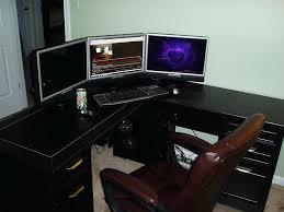 Gaming L Desk Gaming L Desk Furniture Setup Shaped Of Corner