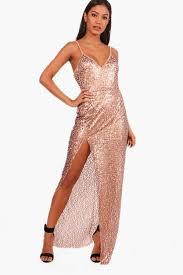 boohoo clothing boohoo sequin split maxi dress kate upton emilio pucci