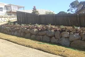 garden bed retaining wall brisbane precision boulder walls brisbane