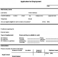 Filling Out A Resume Online by Download A Free Sample Blank Employment Application So You Can