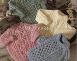 baby toddler childrens aran cardigan knitting pattern aran sweater