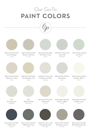 our favorite paint colors from left to right grant beige bm