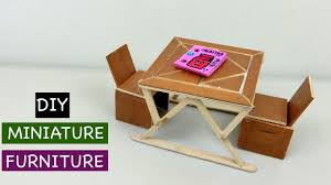 Simple Wooden Chair And Table Diy Miniature Wooden Table And Chair 1 Simple Craft Ideas U0026 Diy