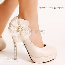 wedding shoes high white high heel bridal shoes lace flower wedding dress shoes