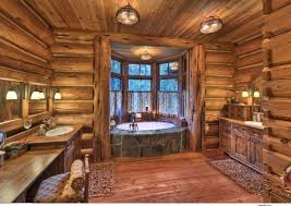 log cabin floors rustic 3 4 bathroom with drop in bathtub log house zillow digs