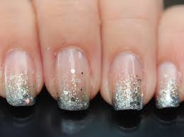 how to get glitter gradient nails tips pinterest glitter