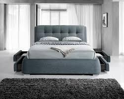 designer fabric 4 drawer storage bed u2013 light grey u2013 4ft6